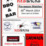 Announcing Redbacks Pre-season Matches (30th March, 2014)