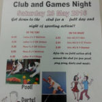 Club fun and games day/night